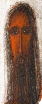 """Наталка Сацик """"Христос"""", 2006, темпера на дереві, 65х30 см"""