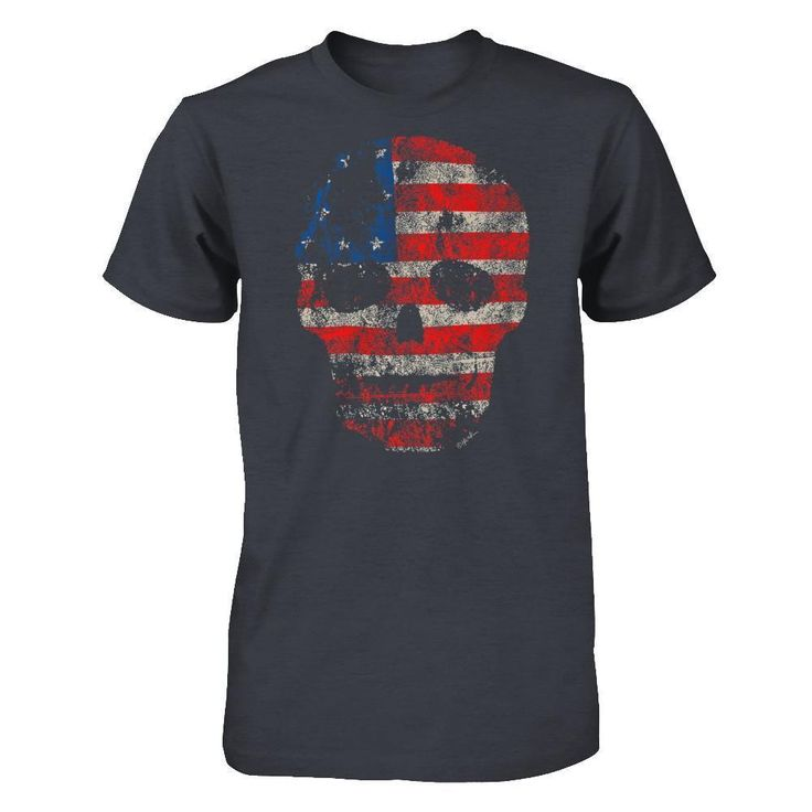 Vintage Flag Skull Traditional T-shirt