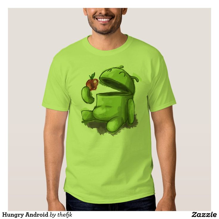 Hungry Android T Shirt. Regalos, Gifts. #camiseta #tshirt