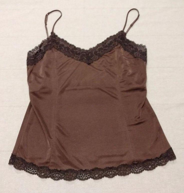 Womens Ladies Victoria Secret Lingerie Sz Large Brown Nighty Lace Sheer USA EUC #VictoriasSecret #Sexy #Everyday