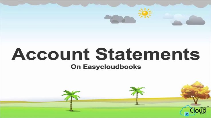 How to use Account Statements on Easycloudbooks