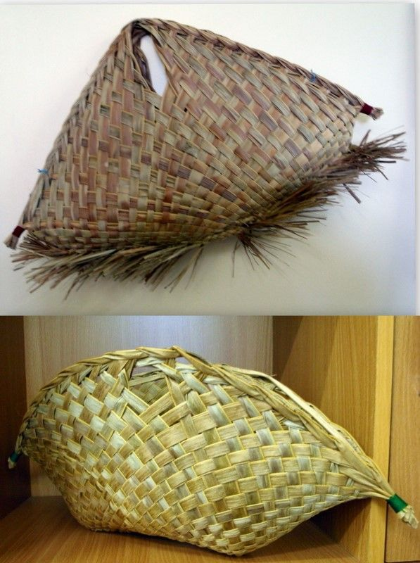Basket Weaving Nz : Best images about coconut palm frond weaving on