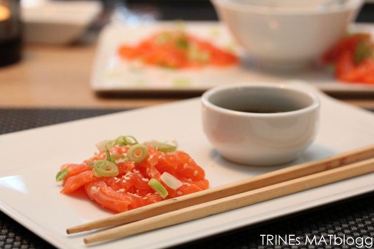 Ponzu saus! Zoya, chili, hvitløk, sitron, kjørvel.. Spør evt. Audun :). Godt på stekt laks også! + Nettingmelon