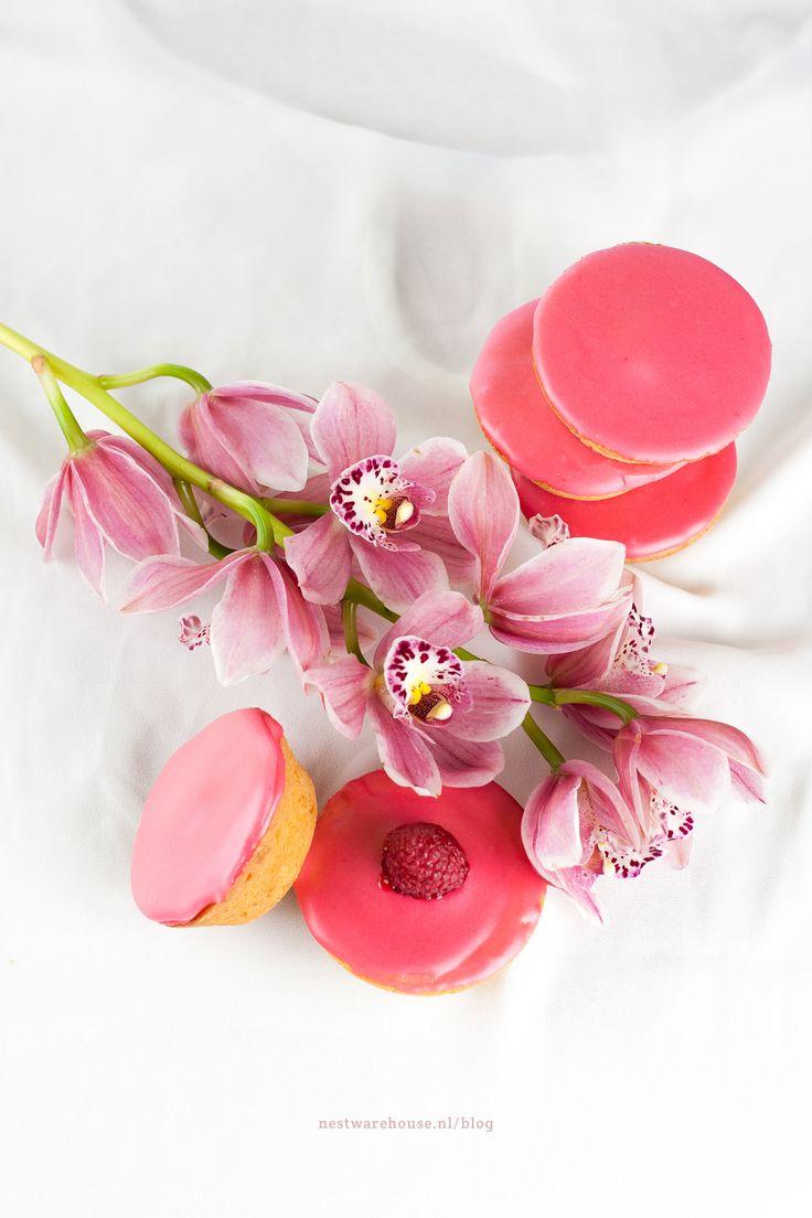 Roze koeken met frambozenglazuur - recept - zelf maken