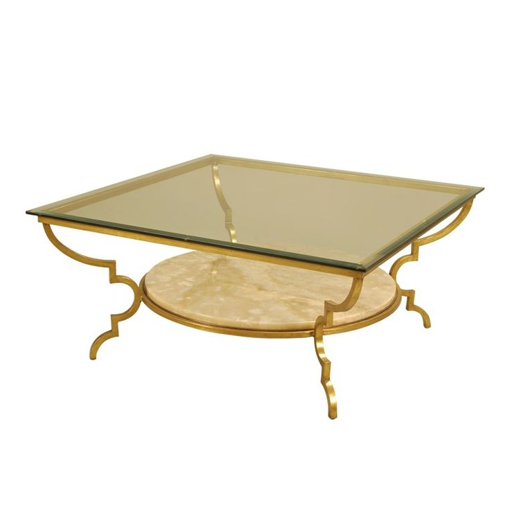 Exceptional Gold Gilded Finished Iron Cocktail Table #coffeetable #furniture #labarge