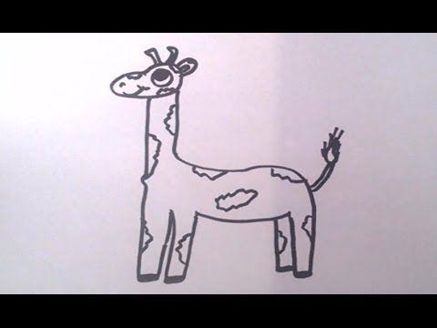 How to Draw a Cartoon Giraffe #humor #funny #lol #comedy #chiste #fun #chistes #meme