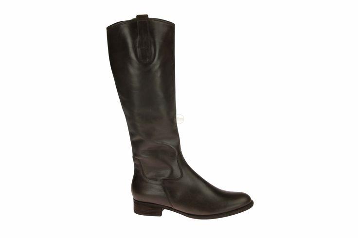 Lange bruine laars met medium schacht #Gabor #schoenencaramel #damesschoenen #laarzen