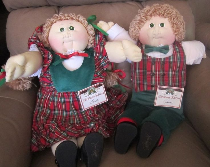 Christmas 1985 Limited Editon (2 Doll Set) Original Cabbage Patch Dolls #DollswithClothingAccessories