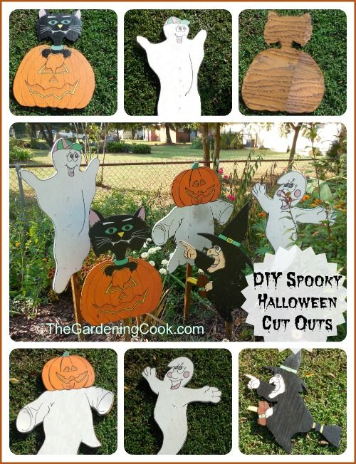 Halloween spooky wood cut out decorations for Yard cutouts