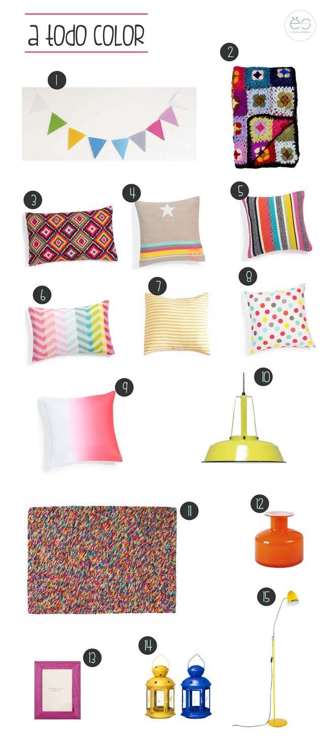 Blog | Estilo Escandinavo | accesorios salón a todo color, cojines