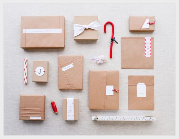 Stitched gift wrap #packaging