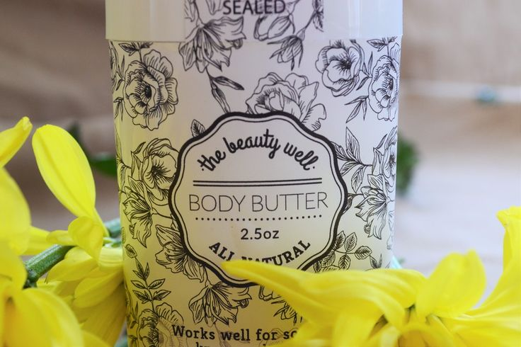 the beauty well~ Body Butter contains cocoa butter and shea butter. Works well for dry knees and elbows.. Tracy Todd Owner/Wholesaler https://www.facebook.com/thebeautywellTracyTodd/
