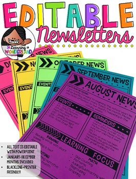 Are you looking for a newsletter format that is easy to keep up with? These newsletters might be the thing you need. To create your newsletter, just type your text and print!