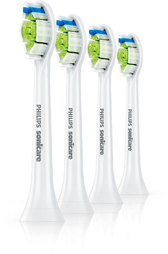 Philips Sonicare - Diamond Clean Brush Heads (4-Pack) - White, HX6064/64
