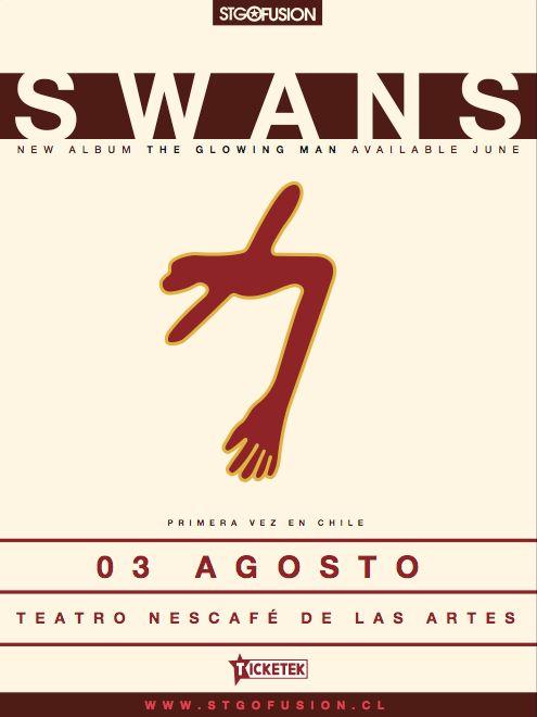 [www.elbeso.cl] SWANS EN CHILE 2016 / Mié.3.Ago. / Teatro NESCAFÉ de las Artes / 21 hrs. @stgofusion