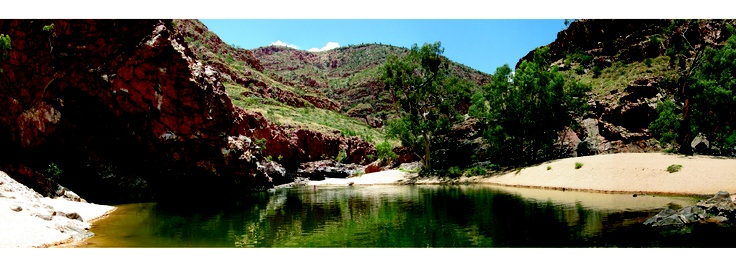 Ormiston Gorge in panoramic view
