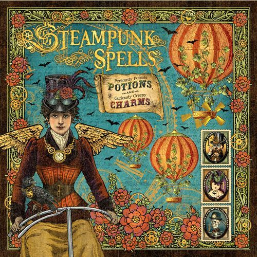 "The front of our signature page of ""Steampunk Spells,"" our new Halloween mid-release paper collection! #graphic45 #steampunk #sneakpeeks"