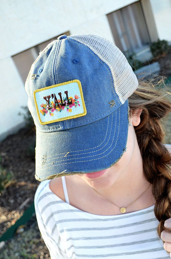 Sport your southern twang with the Judith March Floral Y'all Hat! The back is made with incredibly soft mesh. Features include a embroidered Judith March logo in the side and adjustable snaps.