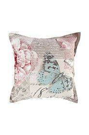 PRINTED PASTEL BUTTERFLY 55X55CM SCATTER CUSHION