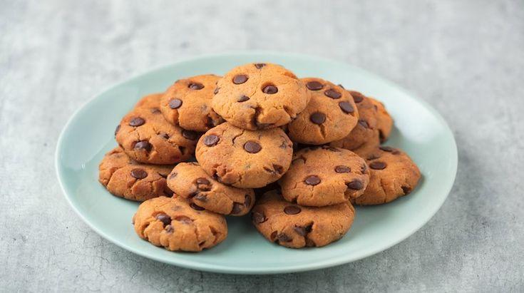 Sušenky z červené čočky s čokoládou