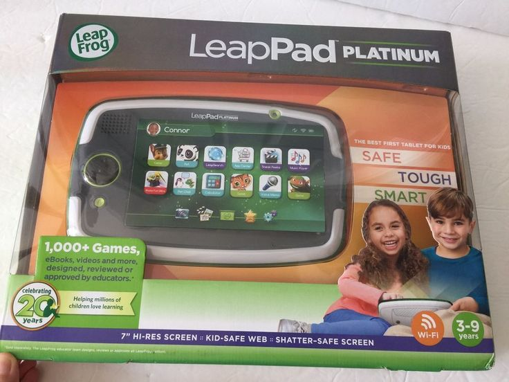 "Leap Frog LeapPad Platinum Kids Learning WiFi Tablet 7"" Screen Green - OPEN BOX #LeapFrog"