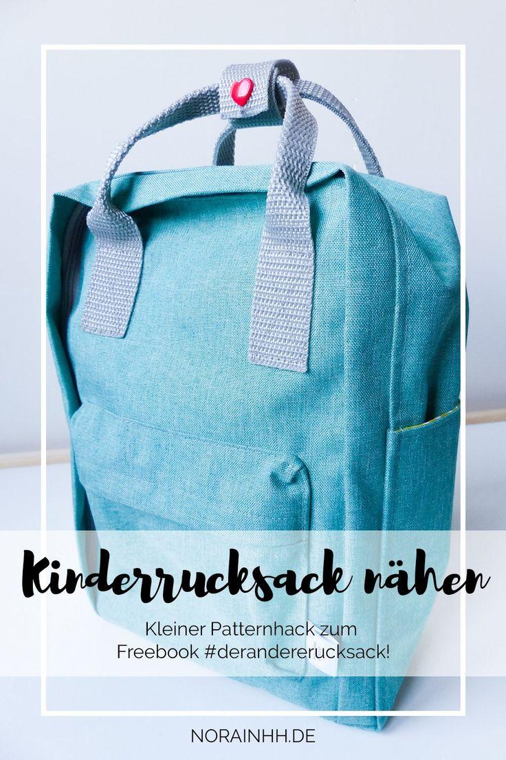 Kinderrucksack nähen nach #derandererucksack | norainhh.de