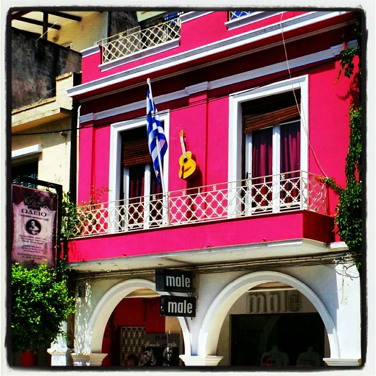 Bright Pink building in Zante town..