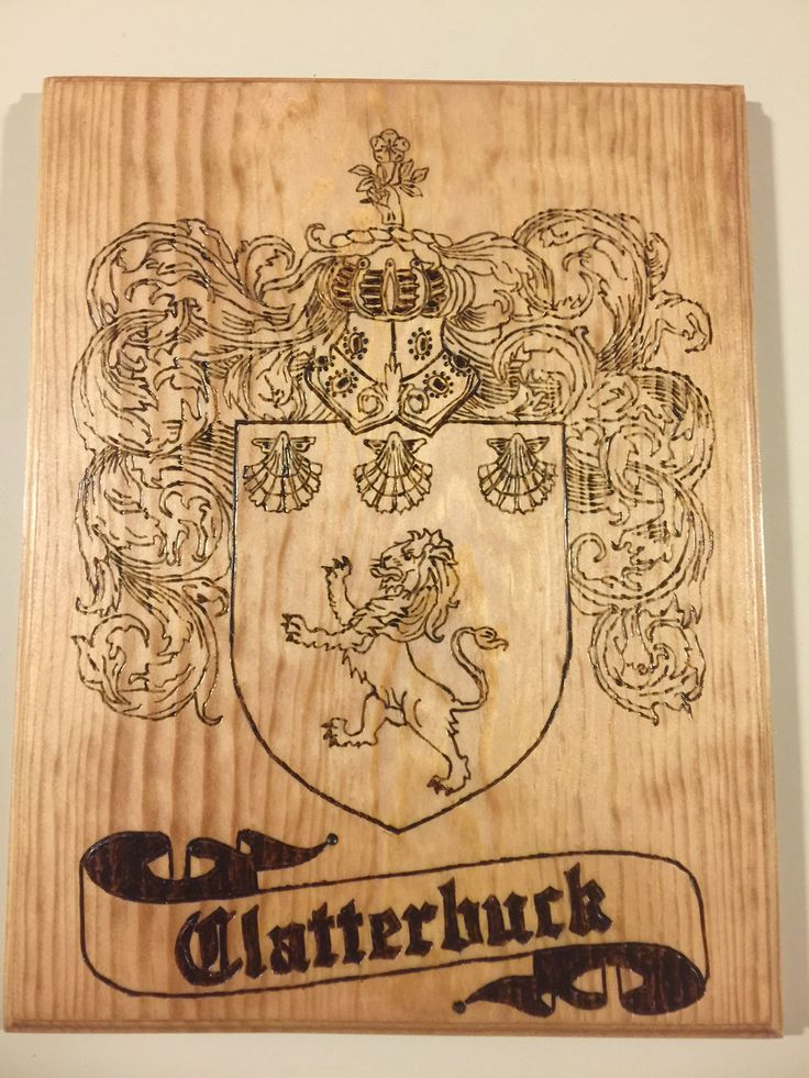 Family Crest Plaques Wood Burned, Coat of Arms Plaques, Family Crests