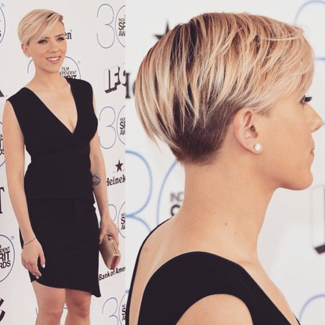 Top 100 scarlett johansson short hair photos Here's a closer look at 'that' Scarlett Johansson haircut, via @davynewkirk #scarlettjohansson #shorthair #spiritawards #sohairobsessed See more