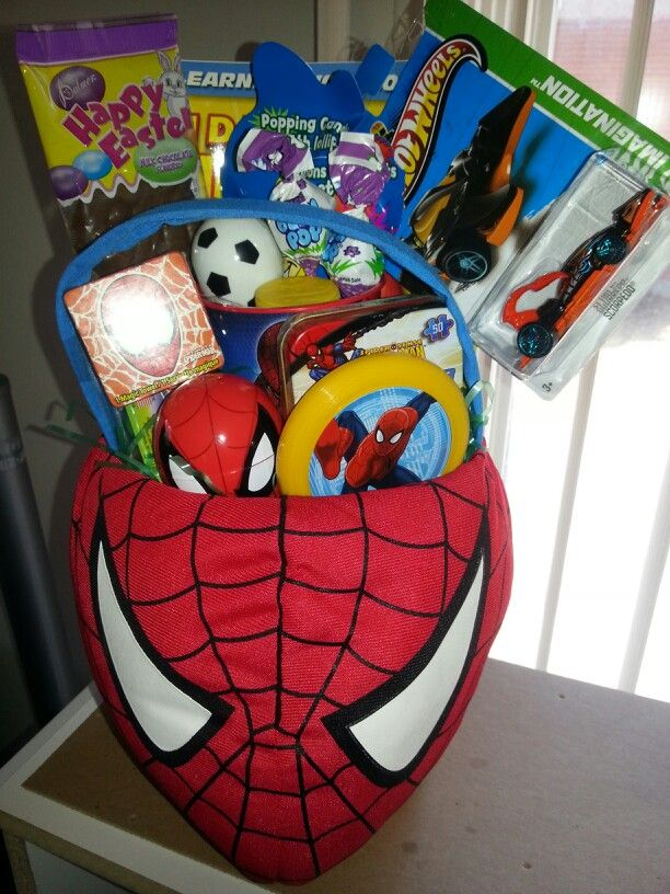 Spiderman Easter Basket Simply Beautiful Pinterest