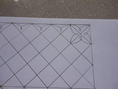 Artes da Silvana: Tutorial de padrão de quilting -- Here is a wonderful design for a first attempt at FMQuiting