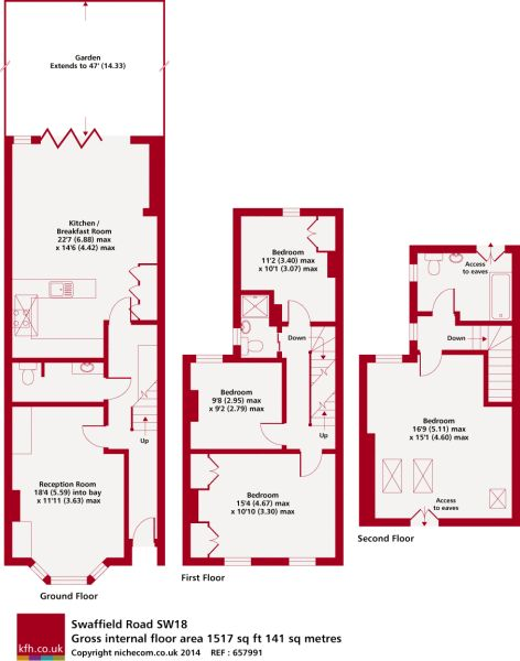 Kitchen in back toilet between front and rear in swaffield earls field terraced house Victorian kitchen design layout