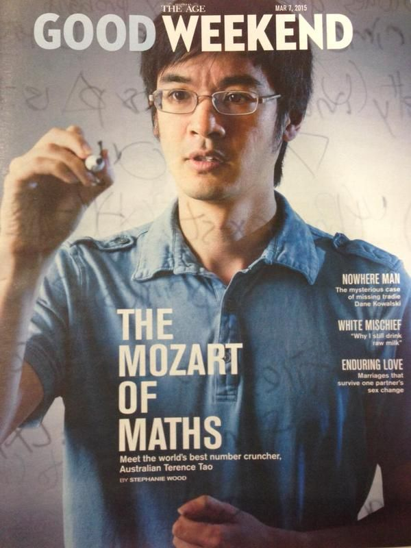 2. Terence Tao  -  Terence Tao is a Chinese-American mathematician who has been estimated to have an IQ as high as 230. An autistic savant, Tao scored a 760 on the old math SAT when he was 9 years old.