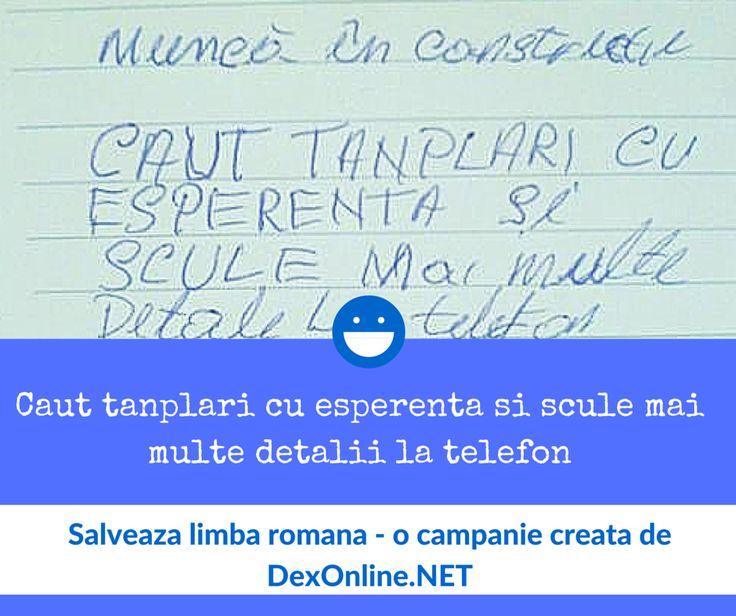 Salvam limba romana impreuna! #salveazalimbaromana #amuzante #anunturi #dex O campanie http://dexonline.net