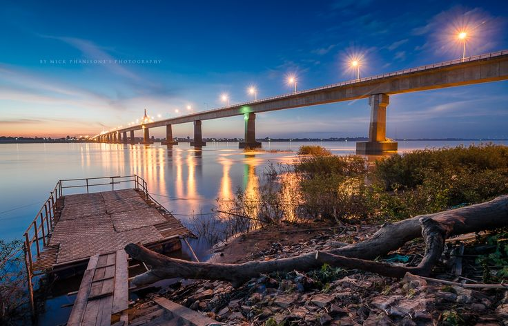 Lao-Thai friendship bridge in Savannakhet