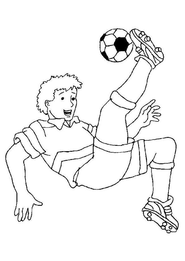 57 best coloriages foot images on pinterest coloring pages ballon d 39 or and au - Coloriage de footballeur ...