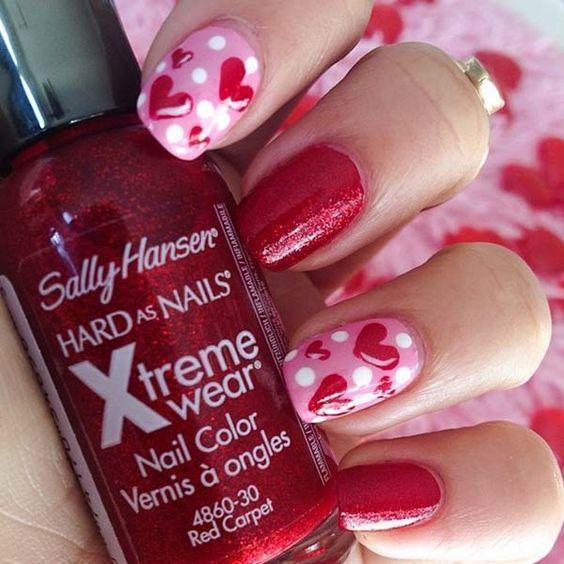 cool Pretty Valentine's nail art designs ♥......