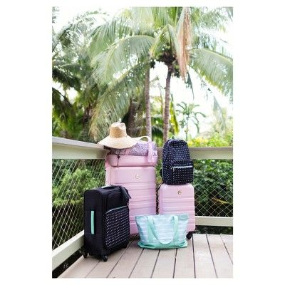 designlovefest 20 Hardside Spinner Carry On Luggage, Blush Peach
