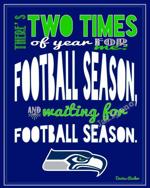 Seattle Seahawks Football Season Darius Rucker Quote by Jalipeno, $4.00
