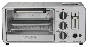 Waring Pro 1500-Watt Toaster Oven with Built-In Pop-Up Toaster contemporary toasters