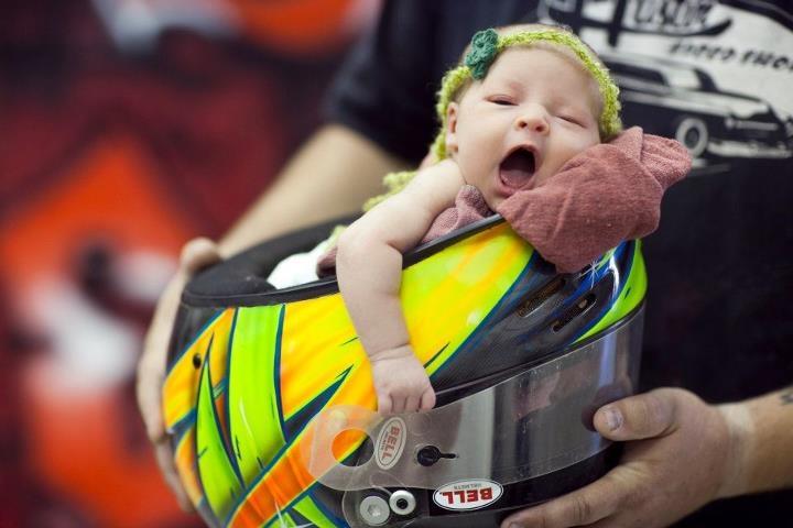 In Her Daddy Dirt Track Helmet