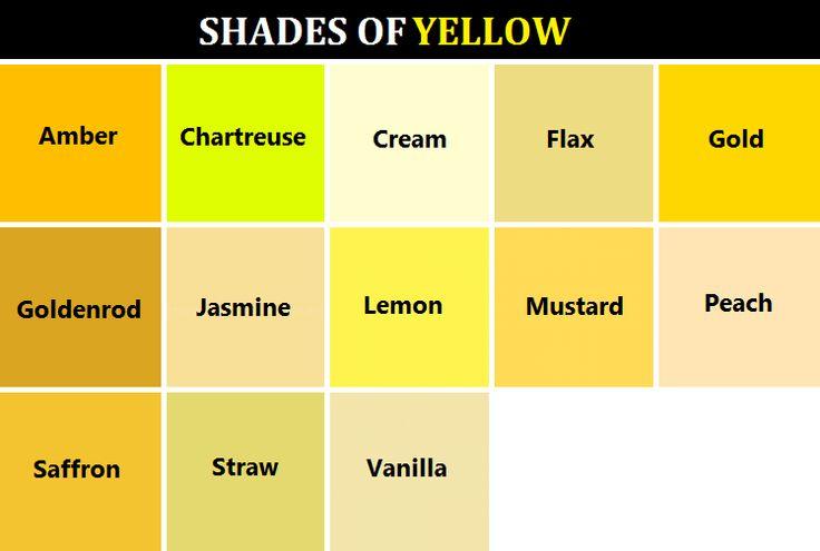 W R I T E W O R L D Colors Pinterest Yellow And Shades
