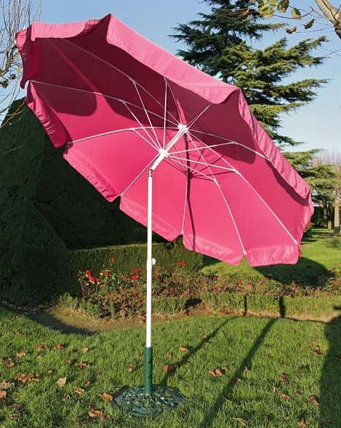parasol inclinable rose
