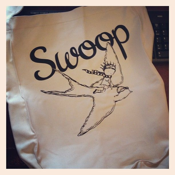 Awesome SWOOP canvas bags we'll be handing out at NAF. http://online.computicket.com/web/event/swoop/727297168/0/54193978