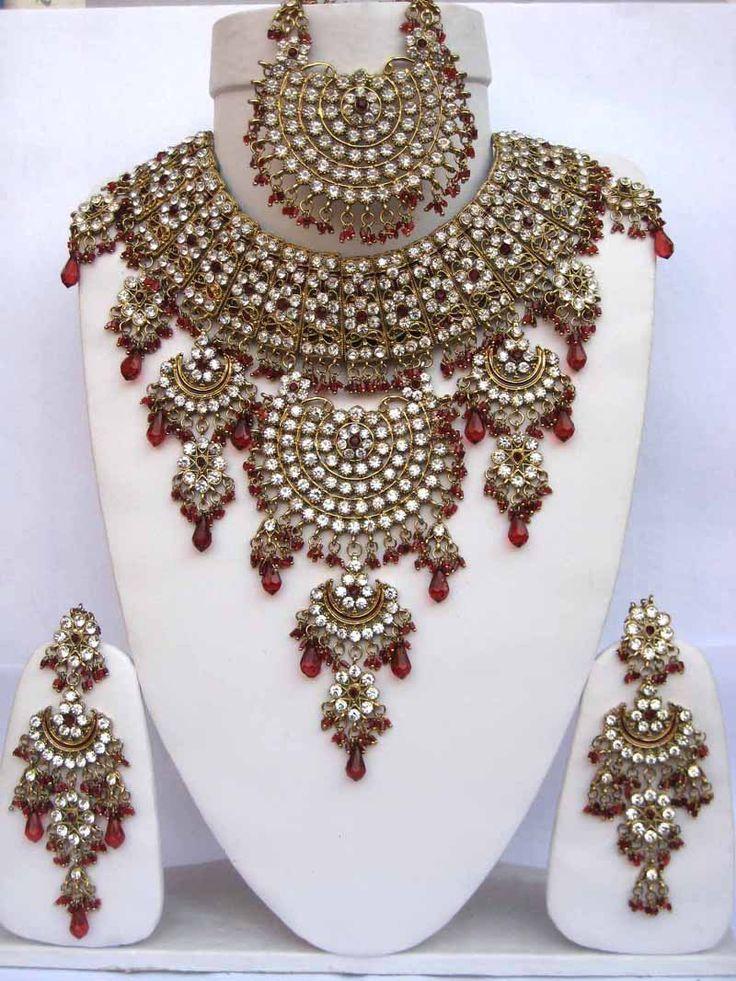 Indian bridal jewelry.