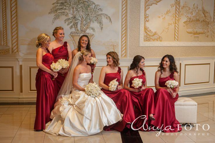 anyafoto.com, bridesmaids, bridesmaid dresses, red bridesmaid dresses, long bridesmaid dresses, satin bridesmad dresses, one shoulder bridesmaid dresses