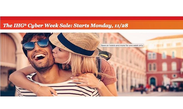 Cyber Week SALE at Intercontinental Hotels Group - EDEALO