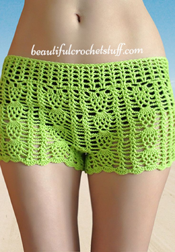 Free Crochet Shorts Pattern - you can layer it over tights for transitional spring and fall seasons, and enjoy this light cover when you're at the beach in the summer!