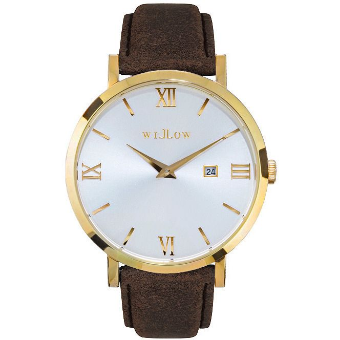 Willow Napoli Watch in Gold w/ Brown Leather Strap | Buy Women's Watches