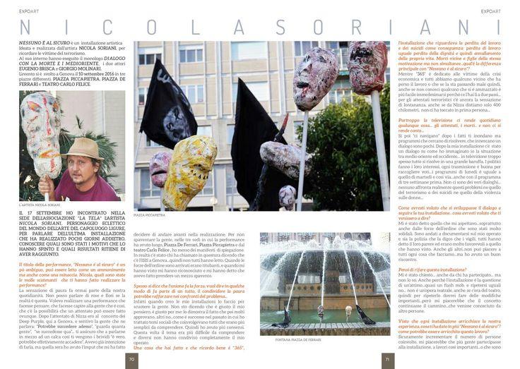 Articolo è intervista della rivista EXPOART ottobre 2016.